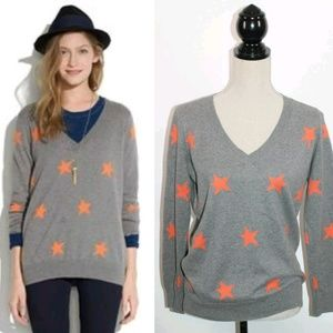 Madewell  Wallace Starry  Gray v-neck sweater